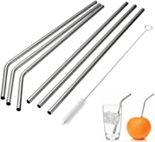 MIXIAO Stainless Steel Drinking Straws, Reusable Metal Drinking Straws Cleaning Brushes 30 oz 20 oz Yeti RTIC Tumbler...
