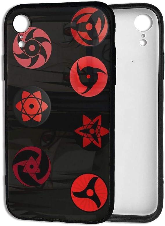 Amazon Com Custom Design Iphone Xr Case Anime Naruto Uchiha Sharingan Eyes With Itachi Sasuke Dustproof Snowproof Ultra Thin 360 Protection Soft Tpu Cover Case For Iphone Xr 6 1 Inch