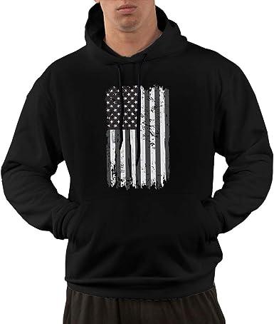 Small Hoodie Skull American Flag Boys Casual Soft Comfortable Sweatshirts Pocket Hoodies