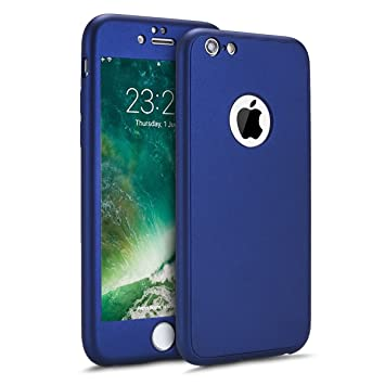 Funda para iPhone 6 Plus,iPhone 6S Plus Carcasa Funda Caso 360 Grado Full Body Completa Cover+ Vidrio templado,ETSUE Ultra Delgado Doble Delantera TPU ...