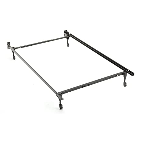 Amazon.com: Twin/Full Sturdy Metal Bedframe 79C   T/F with casters