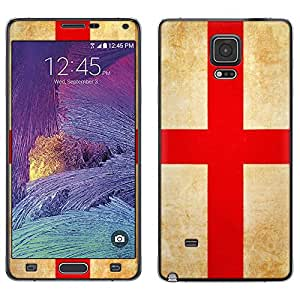 Skin Decal for Samsung Galaxy Note 4 - English Vintage Flag