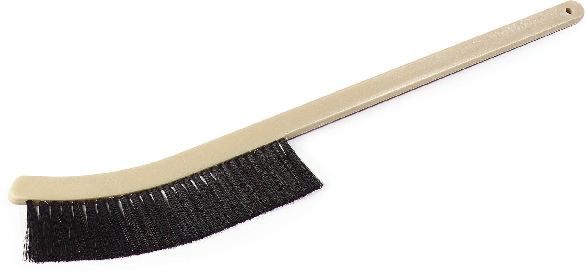 Carlisle 4541103 Narrow Radiator Brush, Plastic Block, 2''-Long Black Horsehair/Polypropylene Bristles, 24'' Length, 9'' Brush Length, 2'' Bristle Trim, Black (Case of 12)