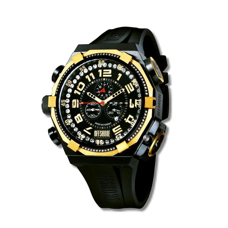 Offshore Limited Herren-Armbanduhr XL Force 4 Prestige Chronograph Silikon 001 PR G