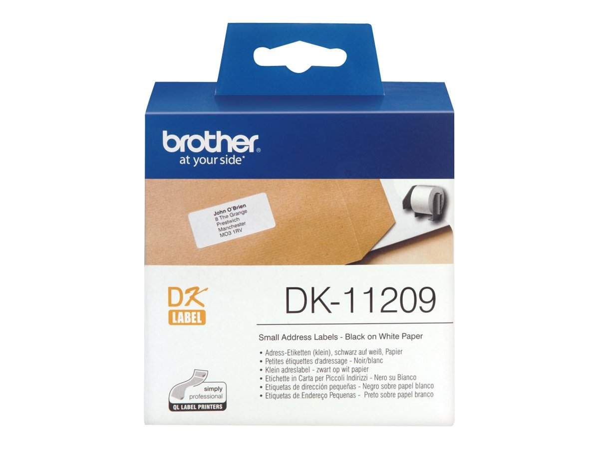Brother DK-11201 Label Roll | Standard Address Labels | Black on White | 29mm (W) x 90mm (L) | 400 Label Roll | Brother Genuine Supplies DK11201 Computer Peripherals