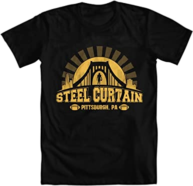 PERFECT Steelers T-Shirt Pittsburgh Steel Curtain Football Fan Jersey Funny