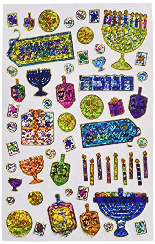 Chanukah Prismatic Stickers ()