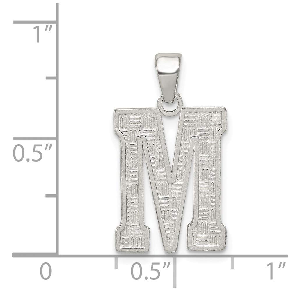FB Jewels Solid Sterling Silver Initial M Charm