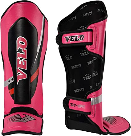 VELO Shin Guards Kids Pads Muay Thai mma Shin Instep Leg Foot Protective Junior