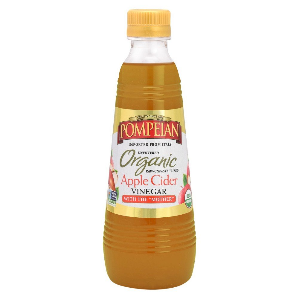Pompeian Organic Unfiltered Apple Cider Vinegar. 16 Fl. Oz. (Pack of 1)