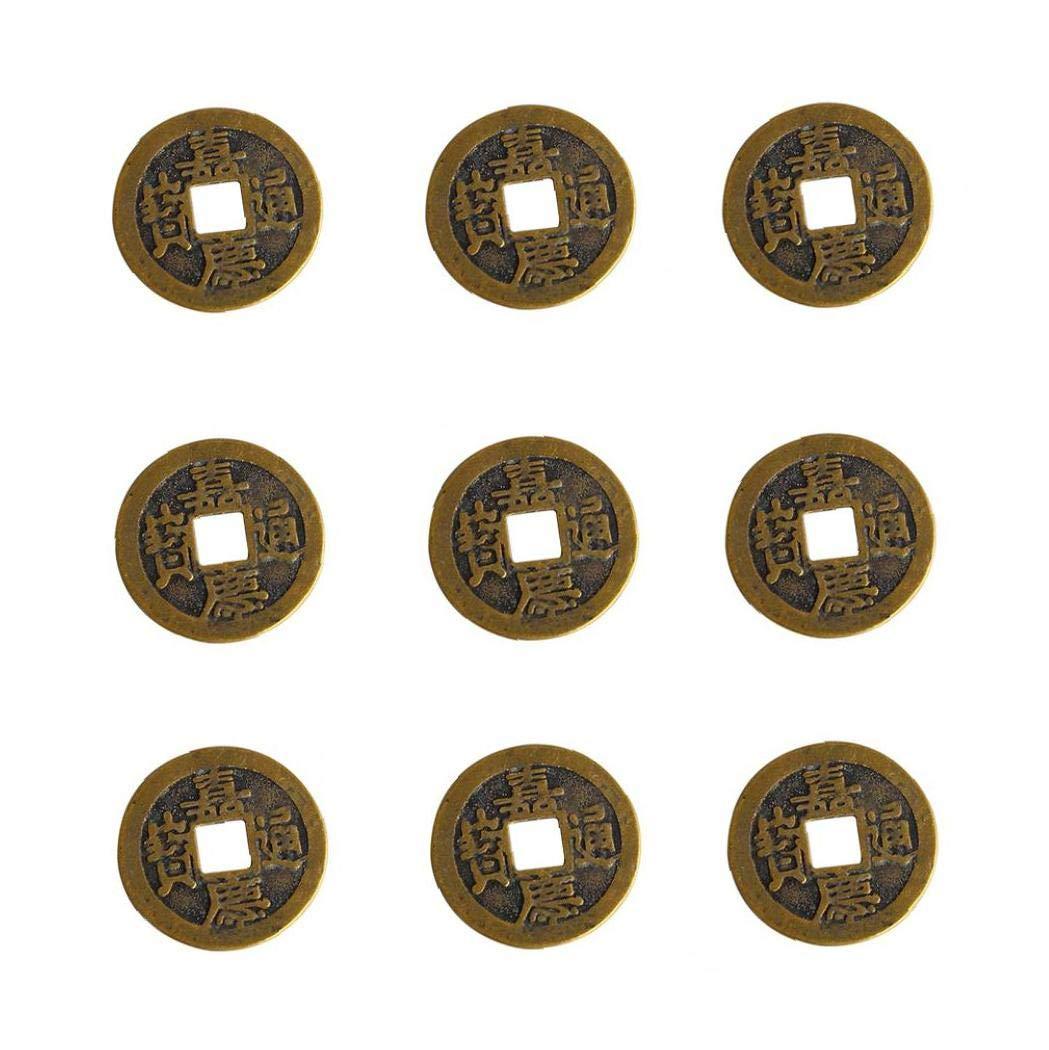 OMMO LEBEINDR Monedas De Fortuna China Chino Buena Suerte Monedas De La Antigua Dinast/ía Tiempo Moneda Monedas 10pcs 1 Pulgada De Fortuna China
