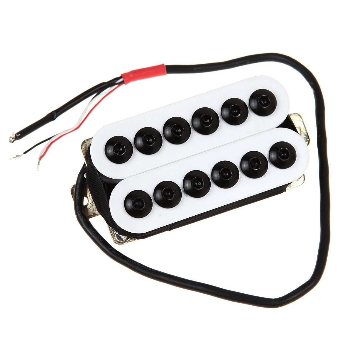 Kmise Mi0343 Bridge Neck Guitar Humbucker Pickup Set Gibson Wiring Color Code Invader Style White Musical Instruments