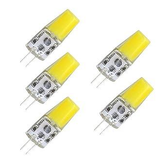 Bombillas LED G4, 5 W, 12 V, luz blanca fría, 6000 K