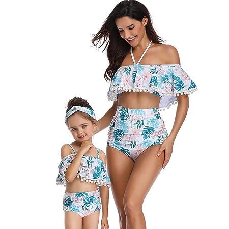 HUXINFEI Trajes De Baño Familiares, Bikini Niña Madre, Traje De ...