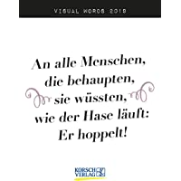 Visual Words 2019: TypoArt Tages-Abreisskalender