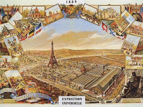 WONDERFULITEMS 1889 EIFFEL TOWER EXPOSITION UNIVERSELLE PARIS FRANCE FRENCH 12