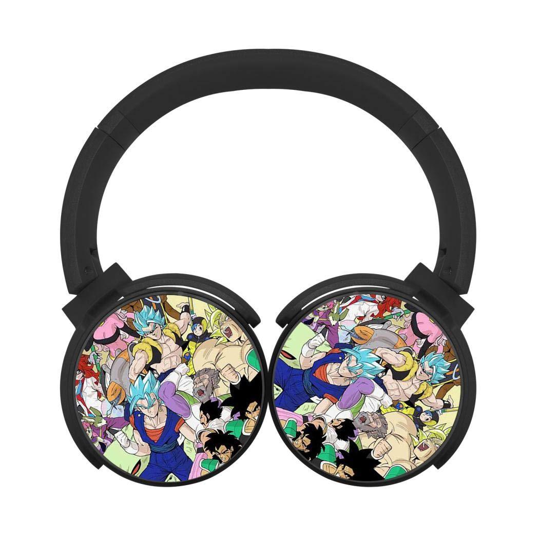 Mobile Wireless Bluetooth Headset Dragon Ball Z 3D Printing Over Ear Headphones Black