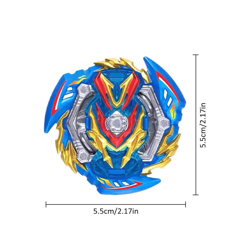 Fuitna /éclatement gyro Jouet avec Jouet en Plastique en Alliage /émetteur Gyroscope Jouet pour Enfants gar/çons Filles Bleu, Vert
