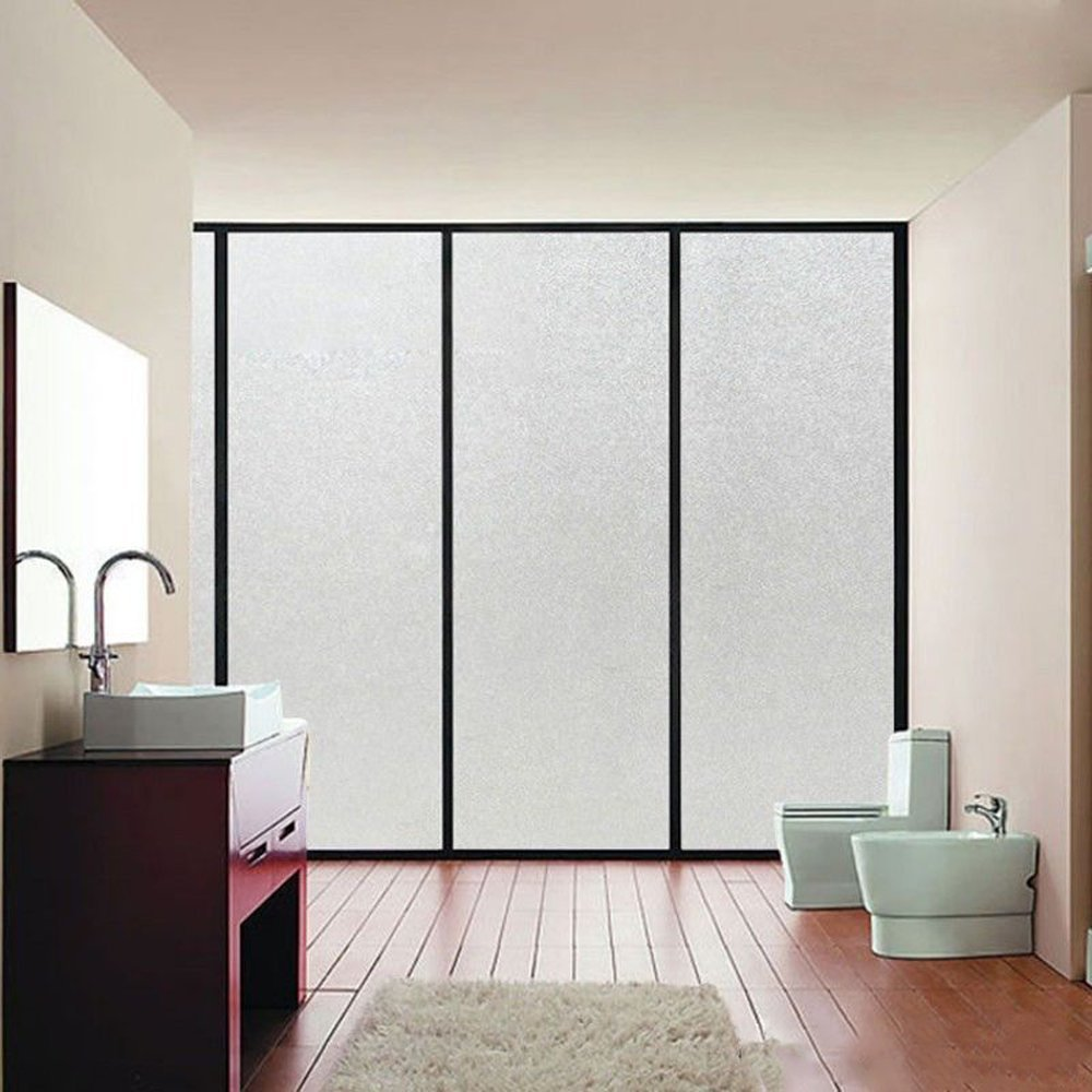 Living Room 1PC Meeting Room,Kitchen Aquiver Frosted Clear Window Film Transparent self-adhesive Sticker Glass Home Office Decorative Window Stickers for Bedroom
