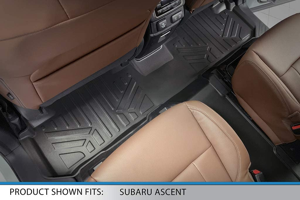 SMARTLINER Custom Fit Floor Mats 2nd and 3rd Row Liner Black for 2019-2020 Subaru Ascent with 2nd Row Bucket Seats
