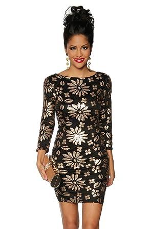ziemlich billig klassisch heiß-verkaufender Fachmann Youngfashcinderella Pailletten-Kleid schwarz/gold S_L (L ...