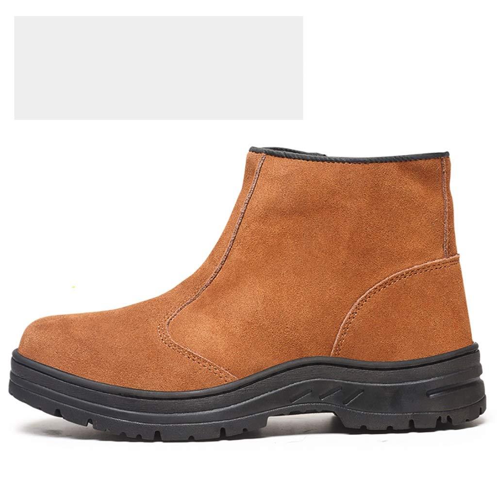 ZYFXZ Sicherheitsschuhe Zehenschutzkappen aus Leder für Herren mit Anti-Smashing-Anti-Verbrühungs-High-Top-Arbeitsschuhen Arbeitsschuhe (größe   45)
