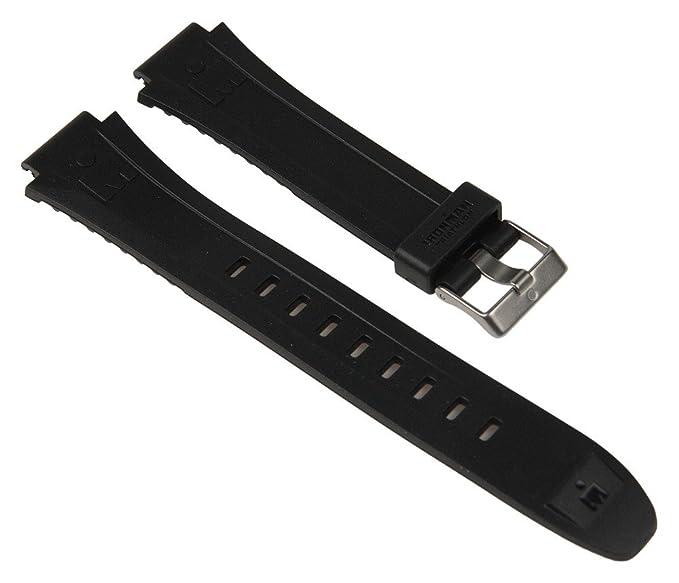 Timex Ironman Triathlon Reloj de repuesto arnband PU banda resistente al agua negro 16 mm para