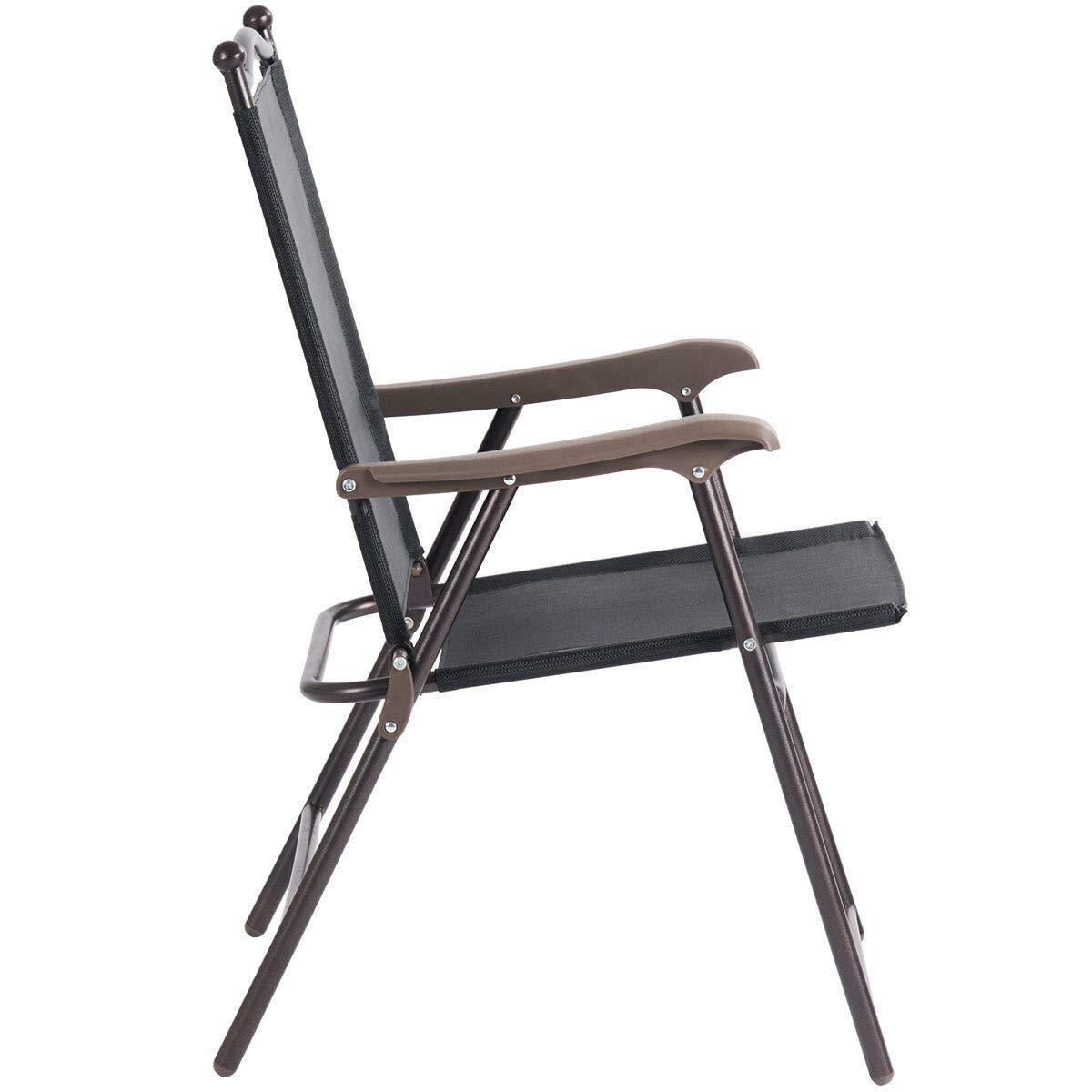 Amazon.com: NanaPluz - 2 sillas plegables negras de tela ...