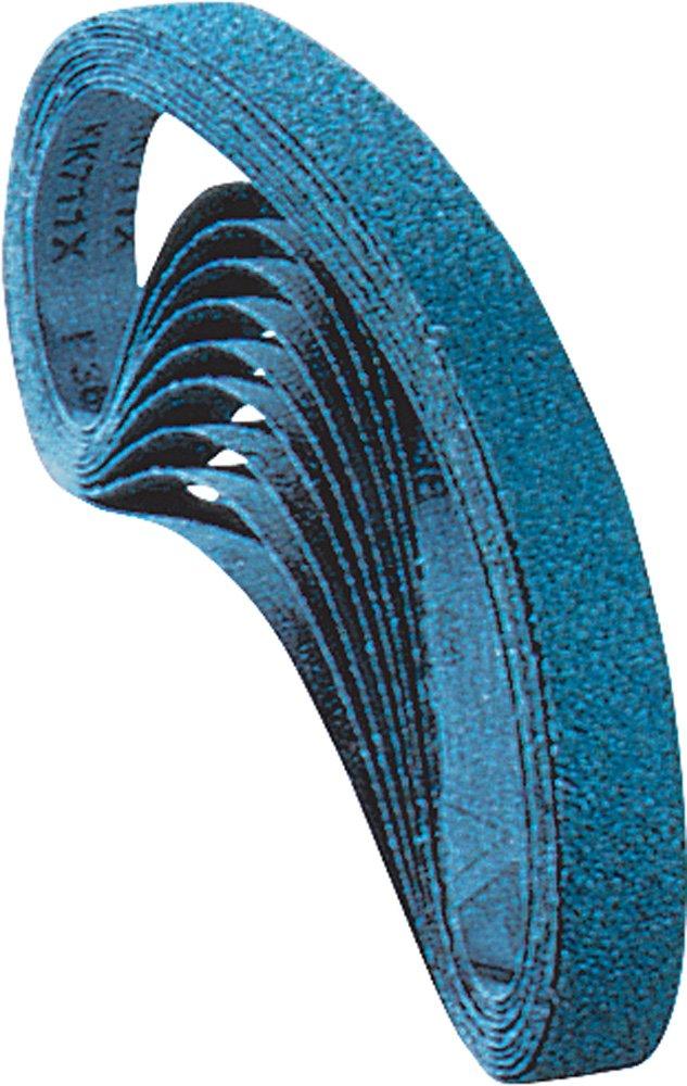 18 Length x 1//2 Width Zirconia Alumina Z 80 Grit Pack of 10 PFERD 49730 Abrasive File Belt