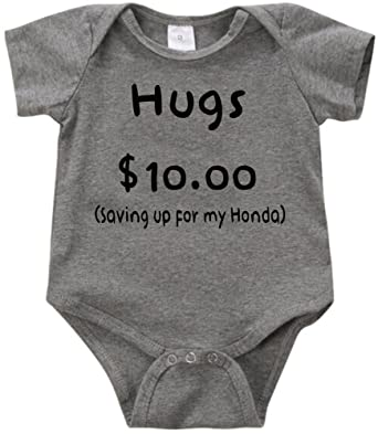 90519f0e0f213 Amazon.com: Anicelook Hugs $10.00 Saving up for my Honda infant romper  onesie creeper: Clothing