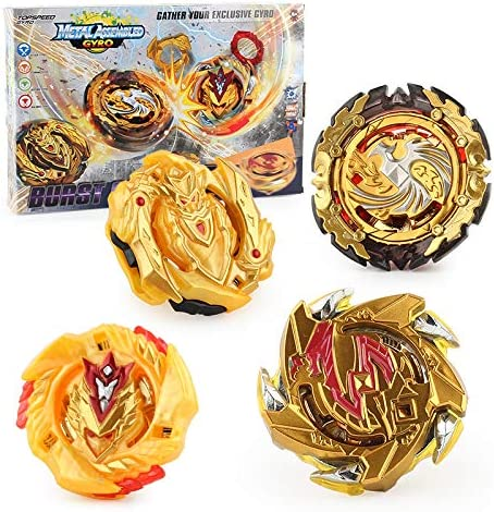 Bey Burst Starter Battling Top Fusion Metal Master Rapidity Fight with Two 4D Launcher Grip Set 4 in 1