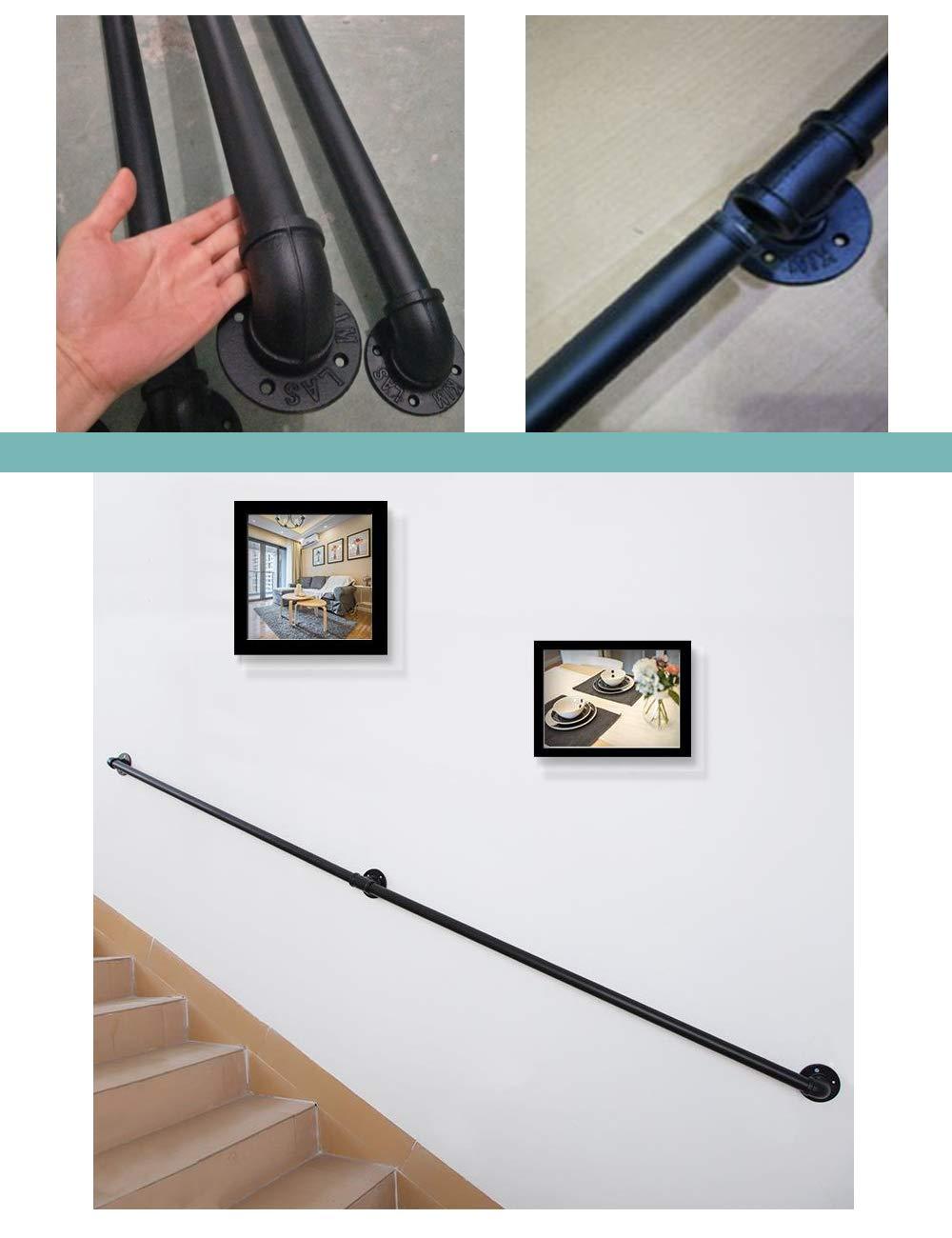 Villa Varios tama/ños 30 cm - 600 cm YHYS Reposabrazos de Seguridad para escaleras |Hierro Forjado Galvanizado Proceso de Pintura Antideslizante Adecuado para Interiores y Exteriores Bar,