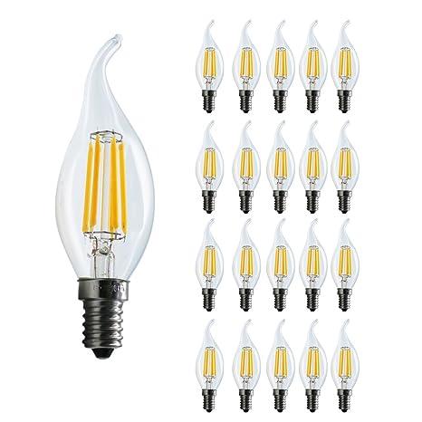 20X Mengjay®6W calidas luces blancas incandescentes ...