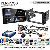 Volunteer Audio Kenwood DDX9904S Double Din Radio Install Kit with Apple CarPlay Android Auto Bluetooth Fits 2007-2013 Silverado, Avalanche (Onstar and Bose)
