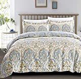 perfect modern duver cover Duvet Cover California-King Premium Cotton Damask Teal Duvet Cover Set, Covers With Zipper Closure Ultra Soft Breathable Bedding Set California-King