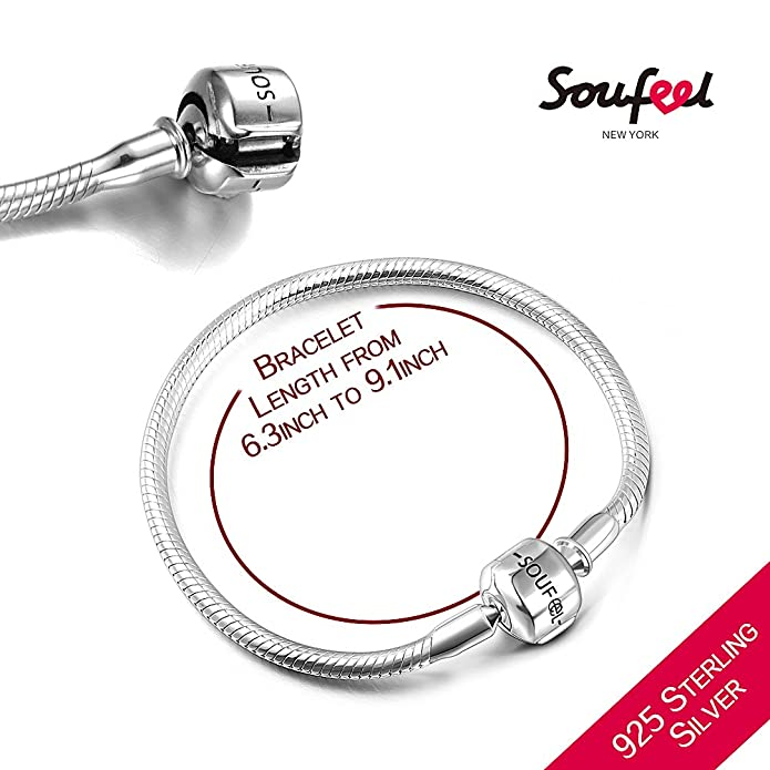 SOUFEEL Bless Angel Charms for Bracelets and Necklace 925 Sterling Steel Pendant Silver Charm Beads av8SGW