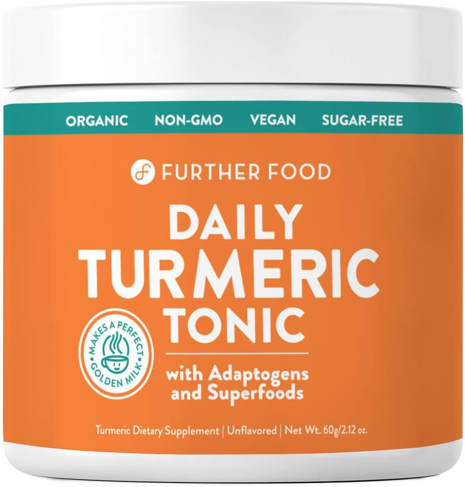 Daily Turmeric Tonic: Organic Turmeric Boosted with 7 Superfoods & Adaptogens   Makes a Perfect Golden Milk   Sugar-Free, Non-GMO, Vegan (2.12 oz.)