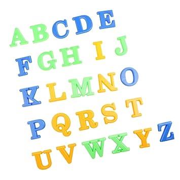 D DOLITY Paquete de 26 Molde de Arena Colorido Modelo de Alfabeto Juguete de Aprendizaje Herramienta de Arcilla: Amazon.es: Juguetes y juegos