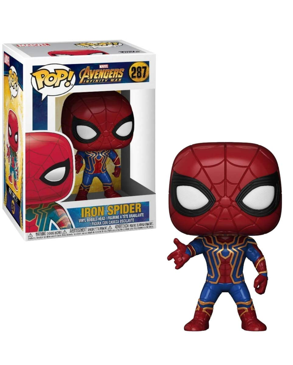 Horror-Shop Avengers Iron Spider Funko Pop! Bobble Head: Amazon.es: Juguetes y juegos