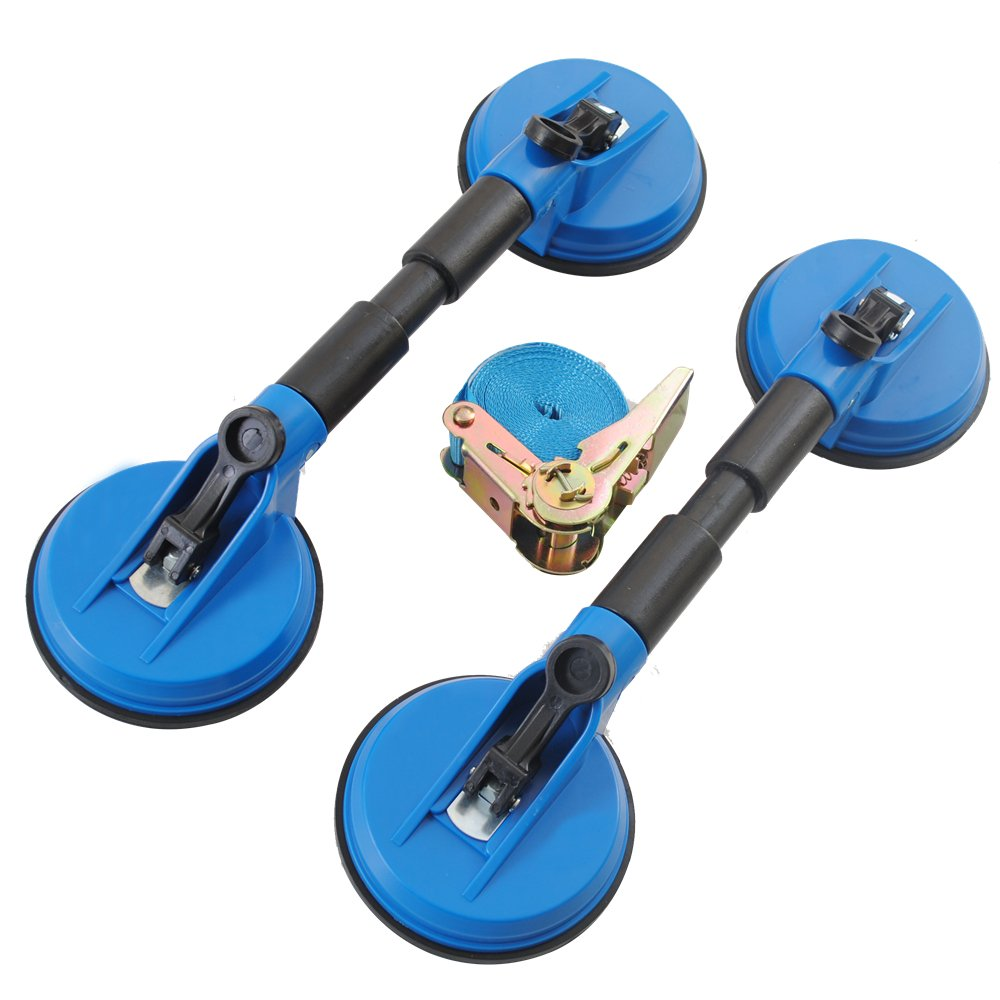 2 pcs Double Sided Suction Cups Suction Lifter Tool Set with Strap Ø 120 mm CCLIFE