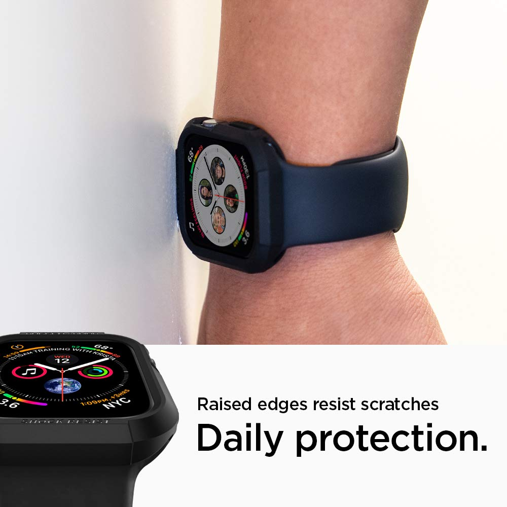 Spigen Rugged Armor Works with Apple Watch Case for 44mm Series 4 (2018) - Black by Spigen (Image #6)