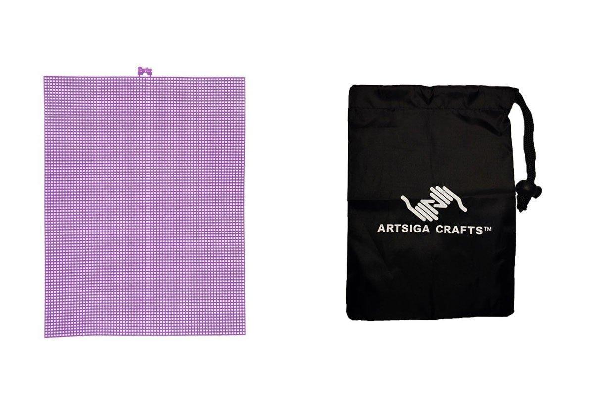Dariceプラスチックキャンバス# 7メッシュパープル10.5 X 13.5(12パック)33900 13 1バンドルartsiga Crafts Smallバッグ B075MWFSQ6