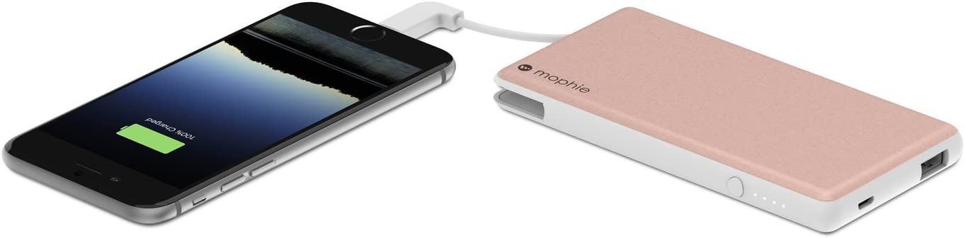 Mophie 6000 mAh Powerstation Plus Portable Power Bank for Smartphones Rose Gold