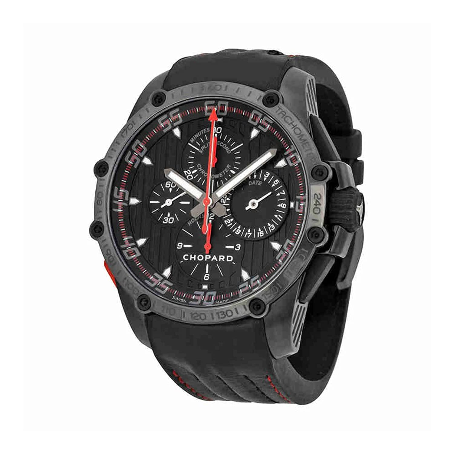 air swiss black watches image leather pvd chronograph on uk watch automatic strap defender