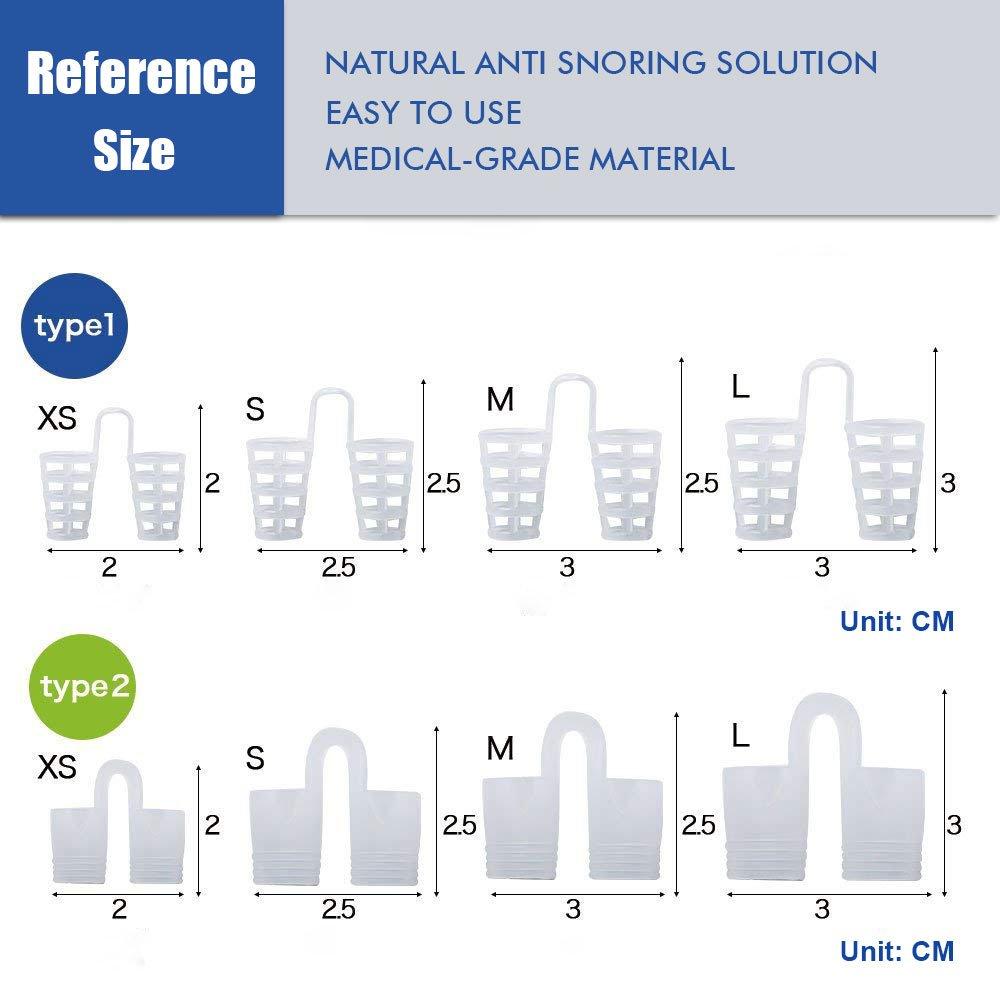 Dilatador Nasal | Dispositivo Anti-Ronquidos | Solución Para Roncar | Dilatadores Nasales 8 Piezas- Correa Anti Ronquidos Efecto Inmediato, Práctico y ...