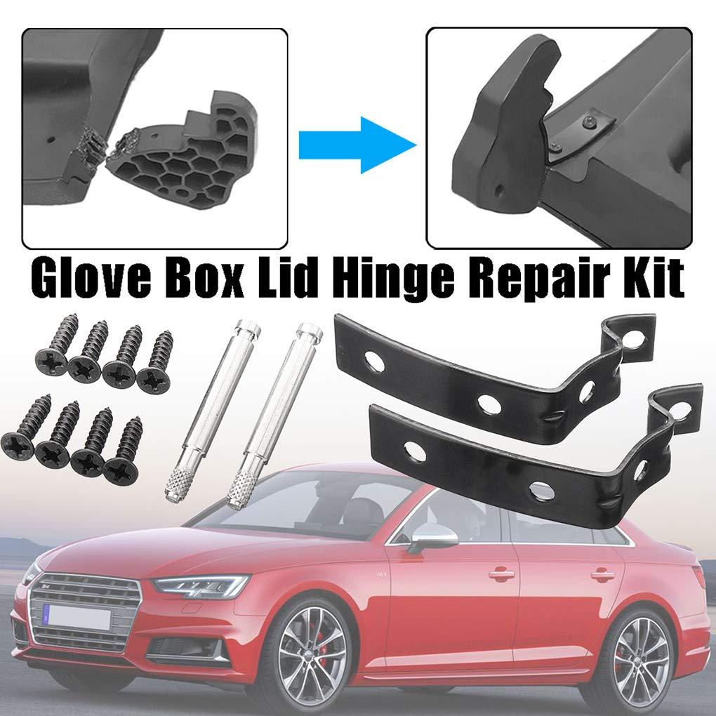 Ben-gi Tapa de la guantera Bisagra Kit de reparaci/ón Compatible para Audi A4 S4 RS4 B7 B6 8E 8E2857131 8E2857035 8E0880802 8E2880324