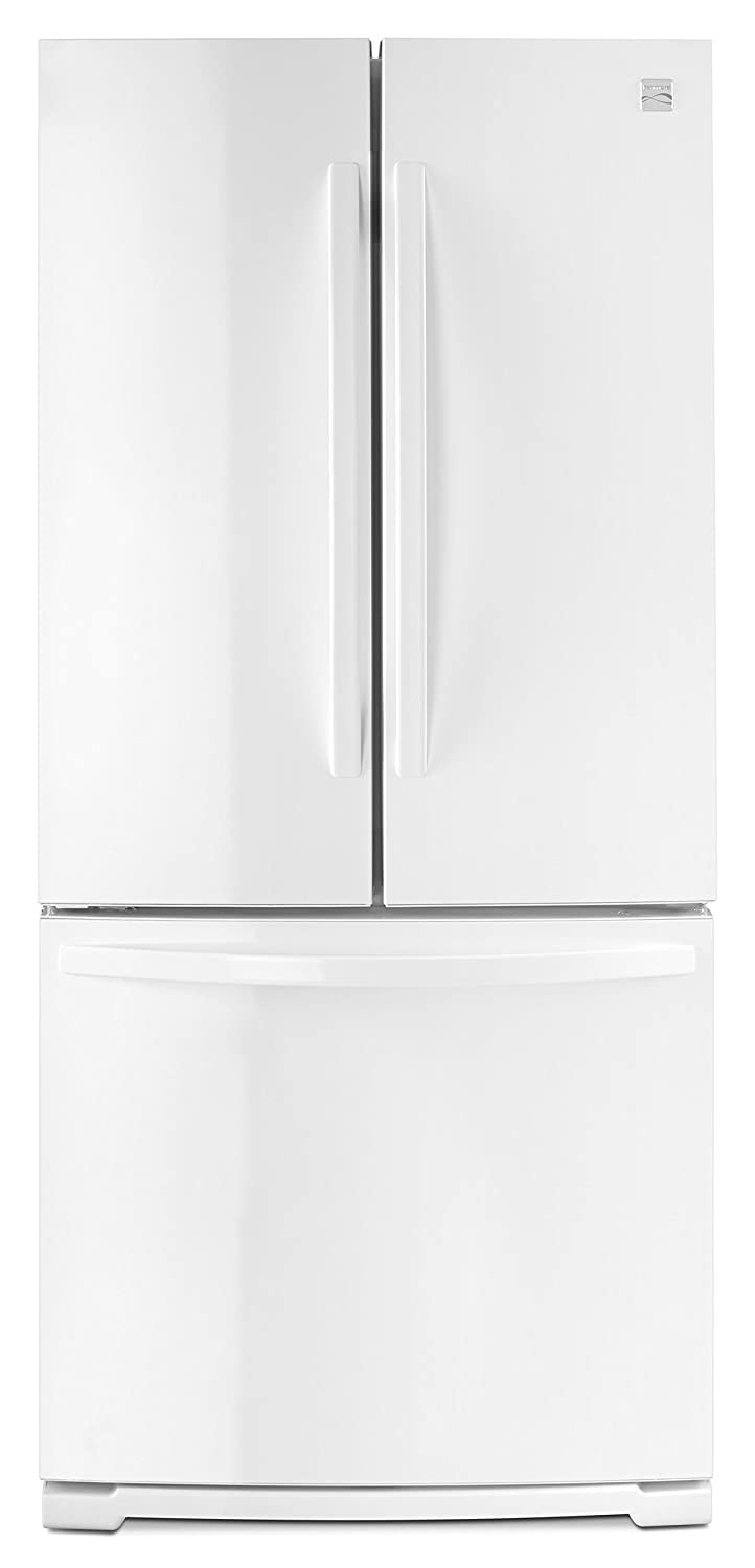 Amazon.com: Kenmore 73002 19.5 cu. ft. Wide French Door Bottom Freezer  Refrigerator in White, includes delivery and hookup: Appliances