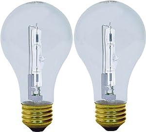 GE Lighting 78795 Energy-Efficient Crystal Clear 29-Watt (40-watt replacement) 430-Lumen A19 Light Bulb with Medium Base, 2-Pack
