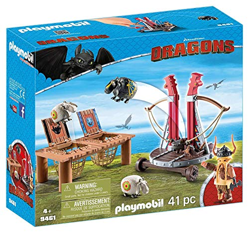 Playmobil How to Train Your Dragon Gobber The Belch with Sheep Sling