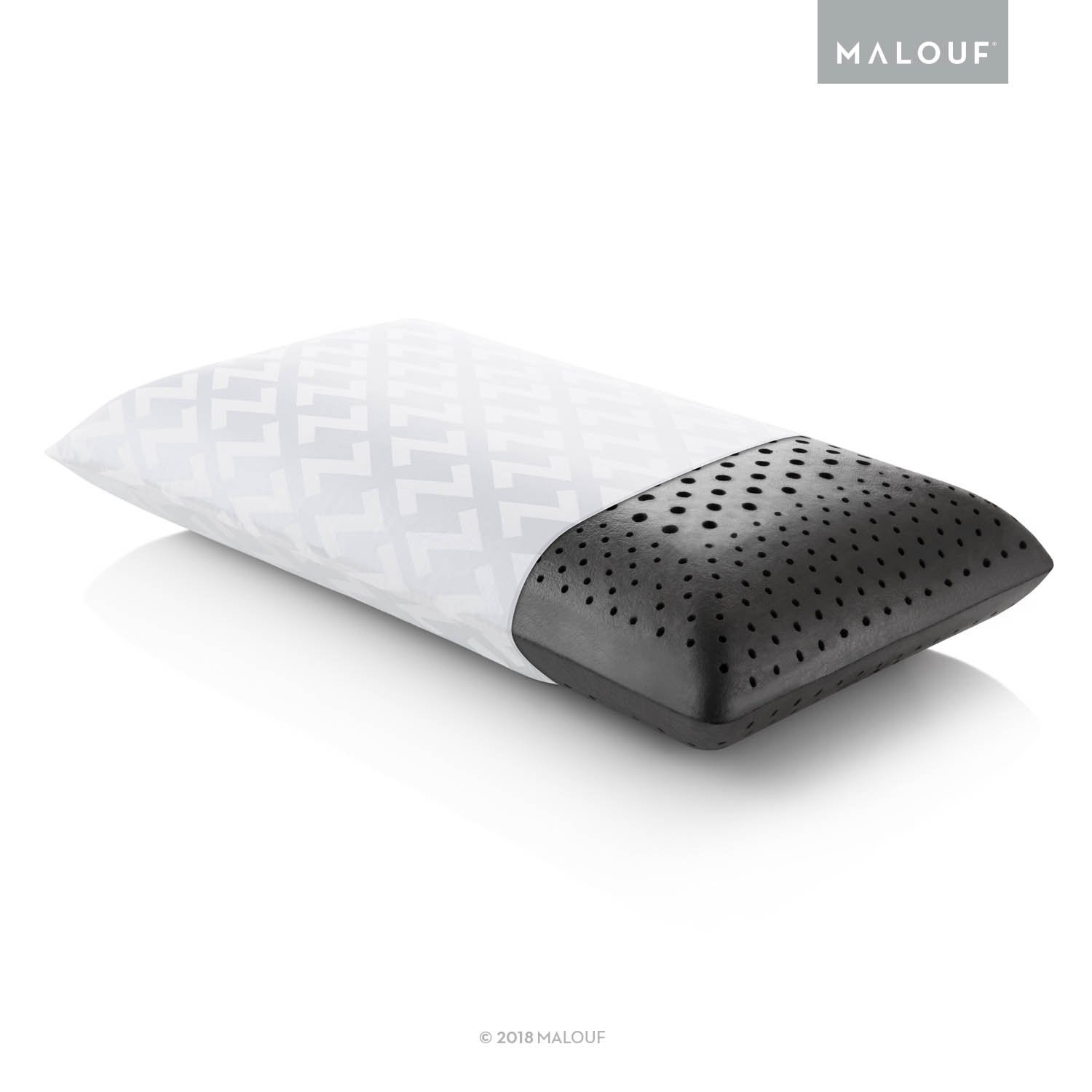 Z Zoned ACTIVEDOUGH Pillow - Infused with Bamboo Charcoal - Feels Like Blend of Latex and Memory Foam - Mid Loft - Queen
